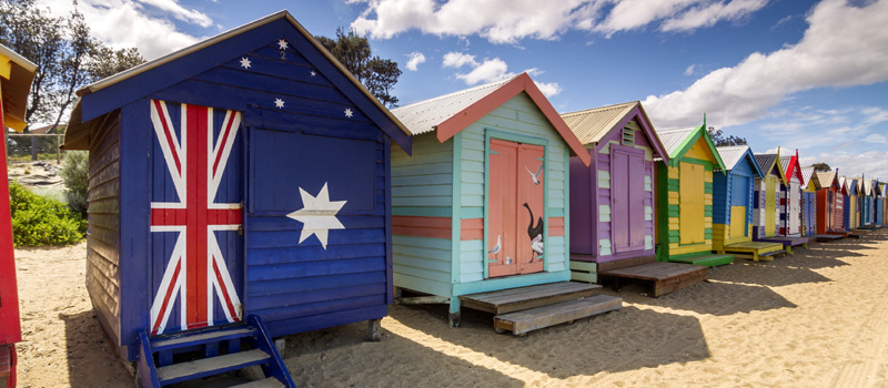 Iconic Brighton Beach Bathing Huts