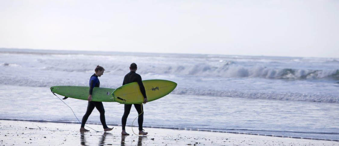 three students walking along the Yarra river, Melbourne